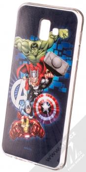 Marvel Avengers 001 TPU ochranný silikonový kryt s motivem pro Samsung Galaxy J6 Plus (2018) tmavě modrá (dark blue)