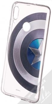 Marvel Kapitán Amerika 006 TPU ochranný silikonový kryt s motivem pro Huawei P Smart (2019) průhledná (transparent)