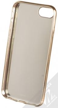 Marvel Kapitánka Marvel 001 TPU pokovený ochranný silikonový kryt s motivem pro Apple iPhone 6, iPhone 6S, iPhone 7, iPhone 8 tmavě modrá zlatá (dark blue gold) zepředu