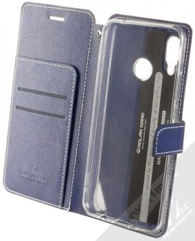 Molan Cano Issue Diary flipové pouzdro pro Huawei Nova 3 tmavě modrá (navy blue) otevřené