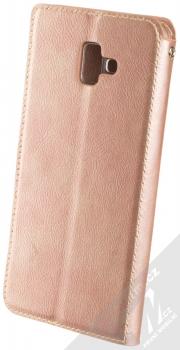 Molan Cano Issue Diary flipové pouzdro pro Samsung Galaxy J6 Plus (2018) růžově zlatá (rose gold) zezadu
