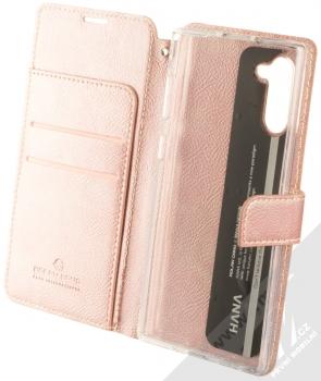 Molan Cano Issue Diary flipové pouzdro pro Samsung Galaxy Note 10 růžově zlatá (rose gold) otevřené