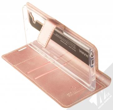 Molan Cano Issue Diary flipové pouzdro pro Samsung Galaxy Note 10 růžově zlatá (rose gold) stojánek
