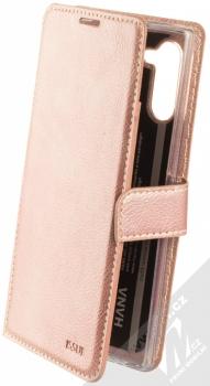 Molan Cano Issue Diary flipové pouzdro pro Samsung Galaxy Note 10 růžově zlatá (rose gold)