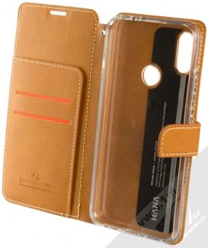 Molan Cano Issue Diary flipové pouzdro pro Xiaomi Redmi Note 7 hnědá (brown) otevřené