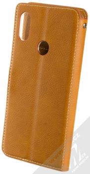 Molan Cano Issue Diary flipové pouzdro pro Xiaomi Redmi Note 7 hnědá (brown) zezadu