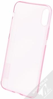 Nillkin Nature TPU tenký gelový kryt pro Apple iPhone X růžová (transparent pink) zepředu