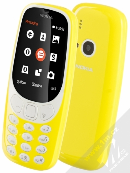 Nokia 3310 Dual SIM (2017) + POUZDRO GOLLA v ceně 199Kč ZDARMA žlutá (yellow)