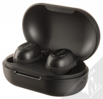 QCY T9 True Wireless Bluetooth stereo sluchátka černá (black) nabíjecí pouzdro se sluchátky