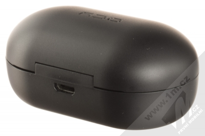 QCY T9 True Wireless Bluetooth stereo sluchátka černá (black) nabíjecí pouzdro zezadu