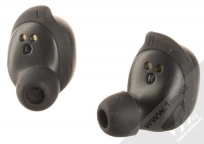 QCY T9 True Wireless Bluetooth stereo sluchátka černá (black) zezadu