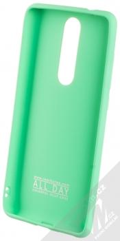 Roar All Day TPU ochranný kryt pro Nokia 5.1 mátově zelená (mint green) zepředu
