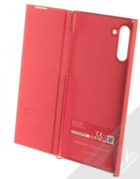 Samsung EF-ZN970CR Clear View Cover originální flipové pouzdro pro Samsung Galaxy Note 10 červená (red) otevřené