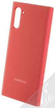Samsung EF-ZN970CR Clear View Cover originální flipové pouzdro pro Samsung Galaxy Note 10 červená (red) zezadu