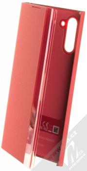 Samsung EF-ZN970CR Clear View Cover originální flipové pouzdro pro Samsung Galaxy Note 10 červená (red)