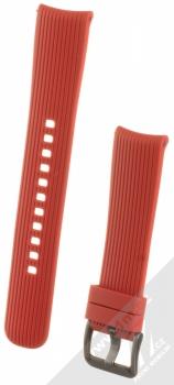 Samsung ET-YSU81MR Active Silicone Band silikonový pásek na zápěstí pro Samsung Galaxy Watch 42mm, Gear Sport červená (red)