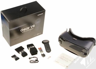 Samsung SM-R325 Gear VR with Controller (2018) originální chytré brýle pro virtuální realitu s ovladačem fialovošedá (orchid gray) balení