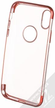 Sligo Plating Soft TPU pokovený ochranný kryt pro Apple iPhone X, iPhone XS červená (red) zepředu