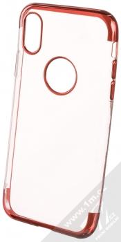 Sligo Plating Soft TPU pokovený ochranný kryt pro Apple iPhone X, iPhone XS červená (red)