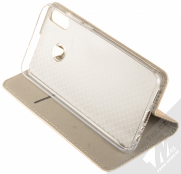 Sligo Smart Magnet flipové pouzdro pro Honor 8X zlatá (gold) stojánek