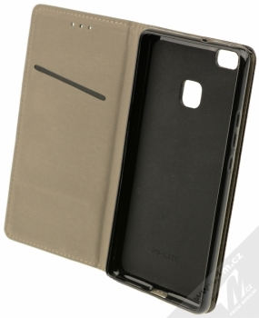 Sligo Smart Magnet flipové pouzdro pro Huawei P9 Lite černá (black) otevřené
