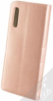Sligo Smart Magnetic flipové pouzdro pro Samsung Galaxy A70 růžově zlatá (rose gold) zezadu