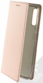 Sligo Smart Magnetic flipové pouzdro pro Samsung Galaxy A70 růžově zlatá (rose gold)