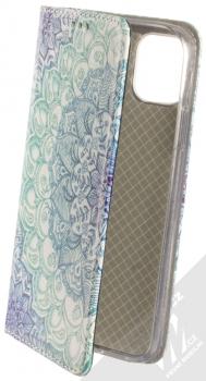 Sligo Smart Trendy Ledové květy 1 flipové pouzdro pro Apple iPhone 11 modrá bílá (blue white)