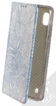 Sligo Smart Trendy Ledové květy 2 flipové pouzdro pro Samsung Galaxy A10 modrá bílá (blue white)