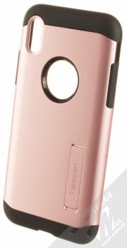 Spigen Slim Armor odolný ochranný kryt se stojánkem pro Apple iPhone X růžově zlatá (rose gold)