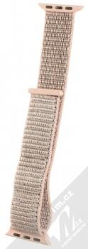 Tactical Nylon Strap textilní pásek na zápěstí pro Apple Watch 38mm, Watch 40mm světle růžová (light pink)