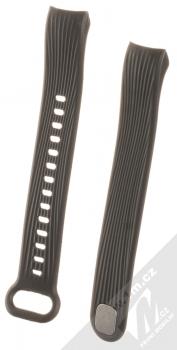 Tactical Vertical Lines Strap silikonový pásek na zápěstí pro Honor Band 3 černá (black)