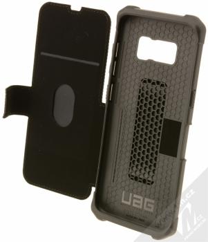 UAG Metropolis odolné flipové pouzdro pro Samsung Galaxy S8 černá (black) otevřené