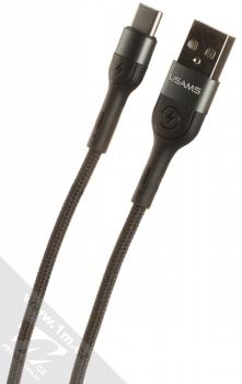 USAMS U55 Aluminum Alloy USB kabel s USB Type-C konektorem černá (black)