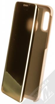 Vennus Clear View flipové pouzdro pro Samsung Galaxy A40 zlatá (gold)
