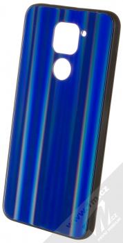 1Mcz Aurora Glass Cover ochranný kryt pro Xiaomi Redmi Note 9 měnivě modrá (iridescent blue)