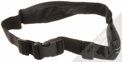 1Mcz Belt Fit Double sportovní pouzdro na pas s dvojí kapsičkou pro mobilní telefon od 5.0 do 6.5 palců černá (black) zezadu