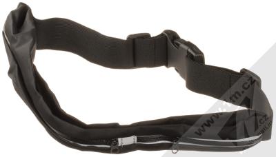 1Mcz Belt Fit Double sportovní pouzdro na pas s dvojí kapsičkou pro mobilní telefon od 5.0 do 6.5 palců černá (black)