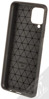 1Mcz Carbon TPU ochranný kryt pro Samsung Galaxy A12 černá (black) zepředu
