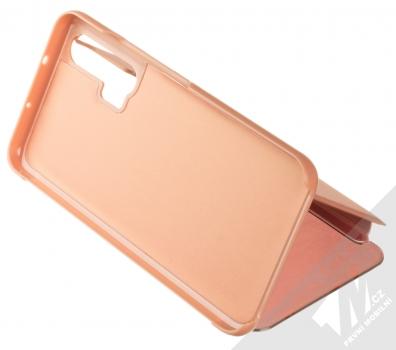1Mcz Clear View flipové pouzdro pro Honor 20 Pro růžová (pink) stojánek