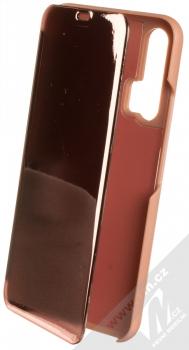 1Mcz Clear View flipové pouzdro pro Honor 20 Pro růžová (pink)
