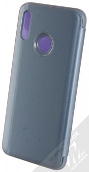 1Mcz Clear View flipové pouzdro pro Huawei P Smart (2019) modrá (blue) zezadu