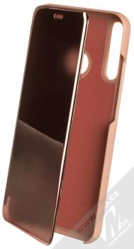 1Mcz Clear View flipové pouzdro pro Huawei P40 Lite E růžová (pink)
