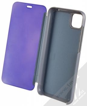 1Mcz Clear View flipové pouzdro pro Huawei Y5p, Honor 9S modrá (blue) otevřené