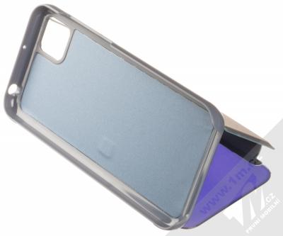1Mcz Clear View flipové pouzdro pro Huawei Y5p, Honor 9S modrá (blue) stojánek
