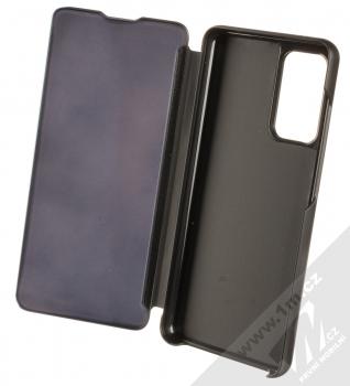 1Mcz Clear View flipové pouzdro pro Samsung Galaxy A52, Galaxy A52 5G černá (black) otevřené