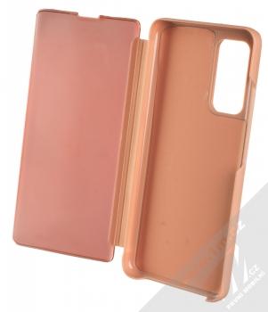1Mcz Clear View flipové pouzdro pro Xiaomi Mi 10T 5G, Mi 10T Pro 5G růžová (pink) otevřené