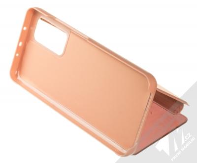 1Mcz Clear View flipové pouzdro pro Xiaomi Mi 10T 5G, Mi 10T Pro 5G růžová (pink) stojánek