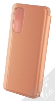 1Mcz Clear View flipové pouzdro pro Xiaomi Mi 10T 5G, Mi 10T Pro 5G růžová (pink) zezadu