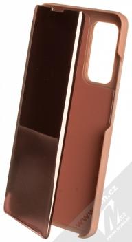 1Mcz Clear View flipové pouzdro pro Xiaomi Mi 10T 5G, Mi 10T Pro 5G růžová (pink)
